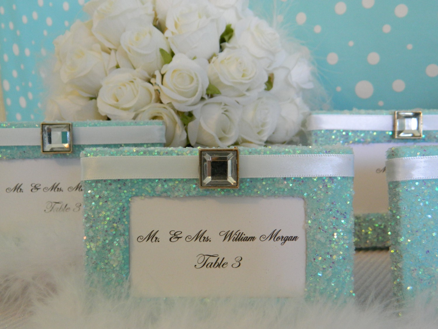 Weddings, Place Cards, Placecards, Escort Cards, Place Card Holders, Escort Card Holders, Tiffany Blue, Seating Cards, SET OF 6, Reception