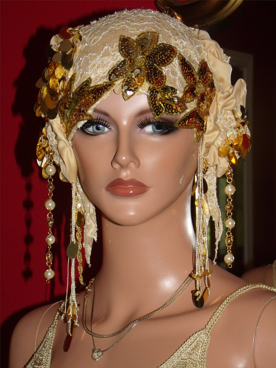 Wedding Lace Flapper Hat Cloche Hat 1920 style Bridal Chic Party