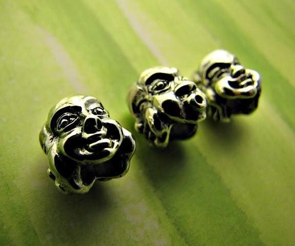 Tri Wajah Large Hole Bali 925 Silver Bead