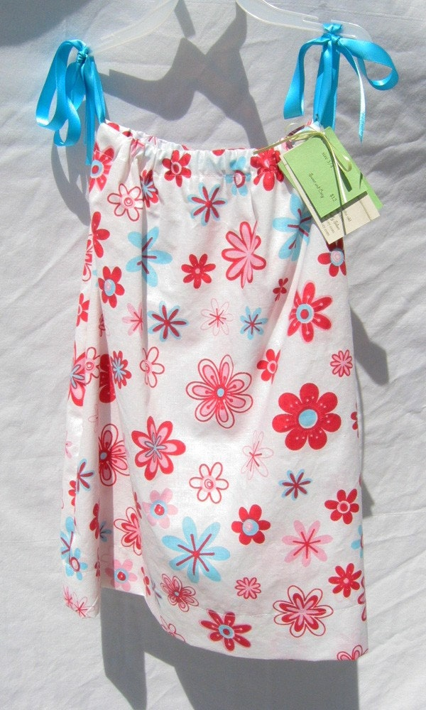 Retro Flowers Pillowcase Dress
