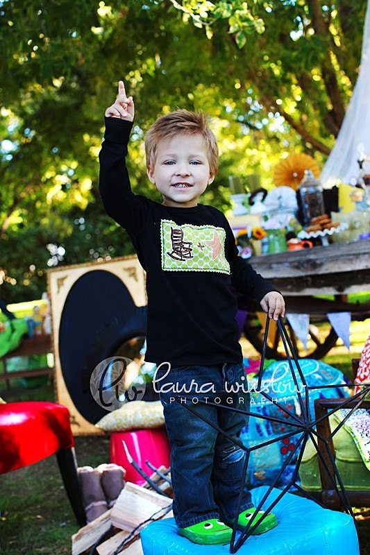 Rock Star long sleeve tshirt for children- 12m, 18m, 2T, 4T, 6T