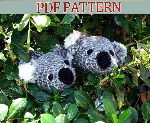Crochet Pattern Koala Bear : Baby Koala Bear Booties Crochet Pattern by CathyrenDesigns