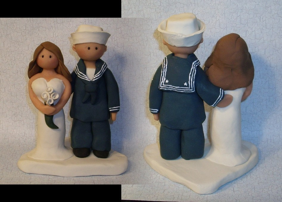 Navy sailor wedding toppers