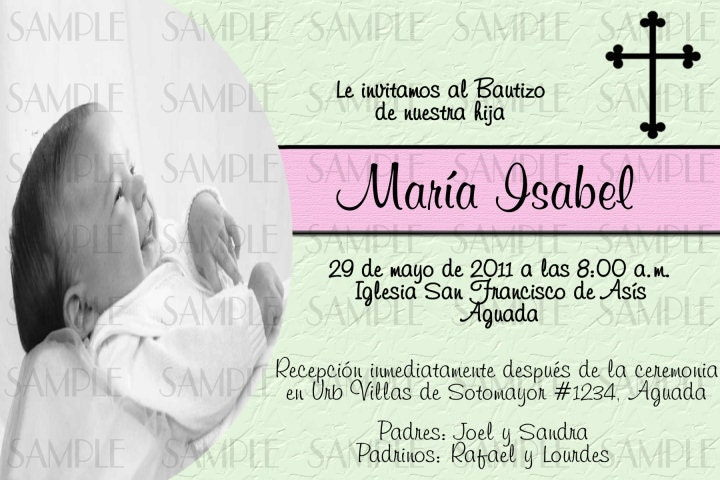 Spanish Baptism Invitations could be nice ideas for your invitation template