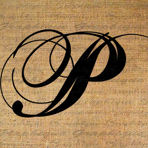 Monogram Initial Letter P Digital Collage Sheet By Graphique