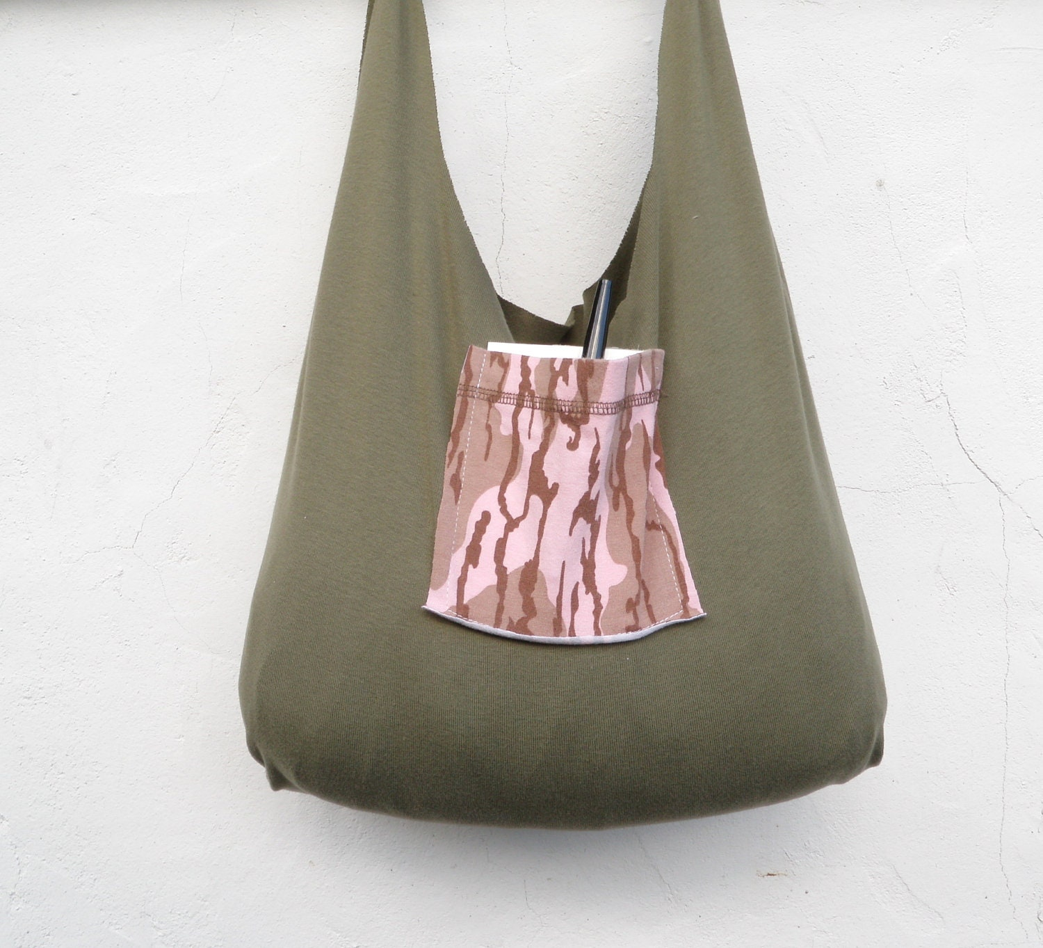 Reusable grocery bag compact stretchy tie top by wildplumtree for Reusable t shirt bags
