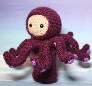 Crochet Pattern- Octavio in an octopus costume amigurumi doll