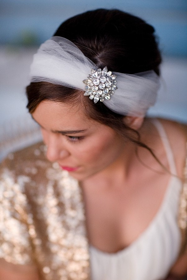 ALEXIS, BRIDAL HEADBAND, READY TO SHIP