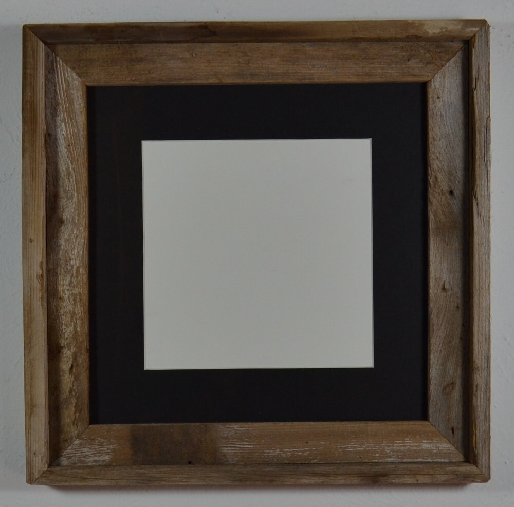 Naturally Weathered Barn Wood Frame 12x12 Black Mat By