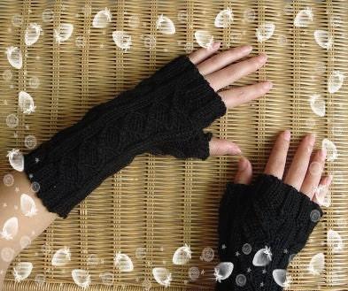 بازو سرخ گرم پشم fingerless دستکش - 2011 تازه وارد