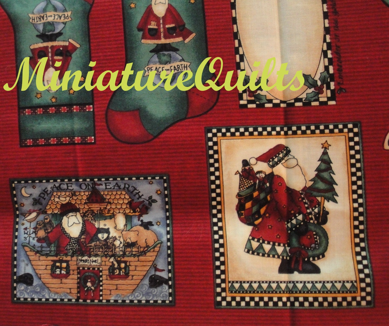 Debbie Mumm Christmas Holiday Quilt Labels Fabric 1 By