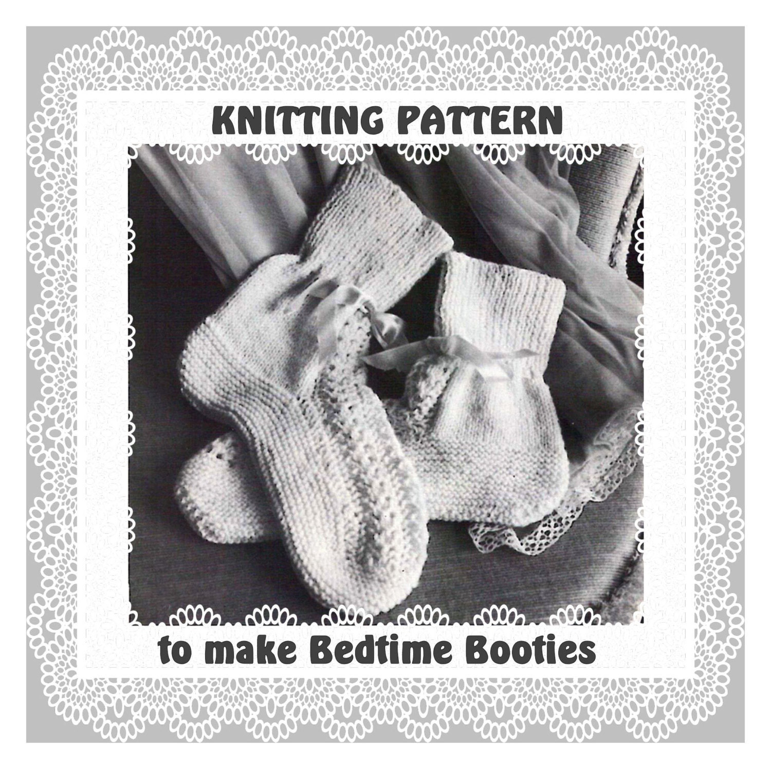 Bed Socks Knitting Pattern 2 Needles : Instant Download PDF Vintage Seventies Knitting by YesterdaysMagic