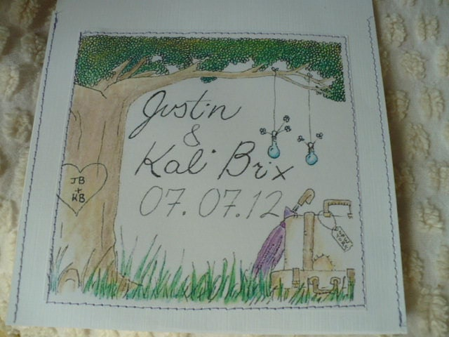 Custom Order for Kaliheid 100 Hand Stitched Wedding CD Envelopes