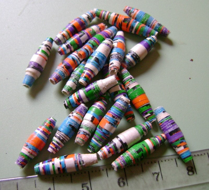 Festive Paper Beads