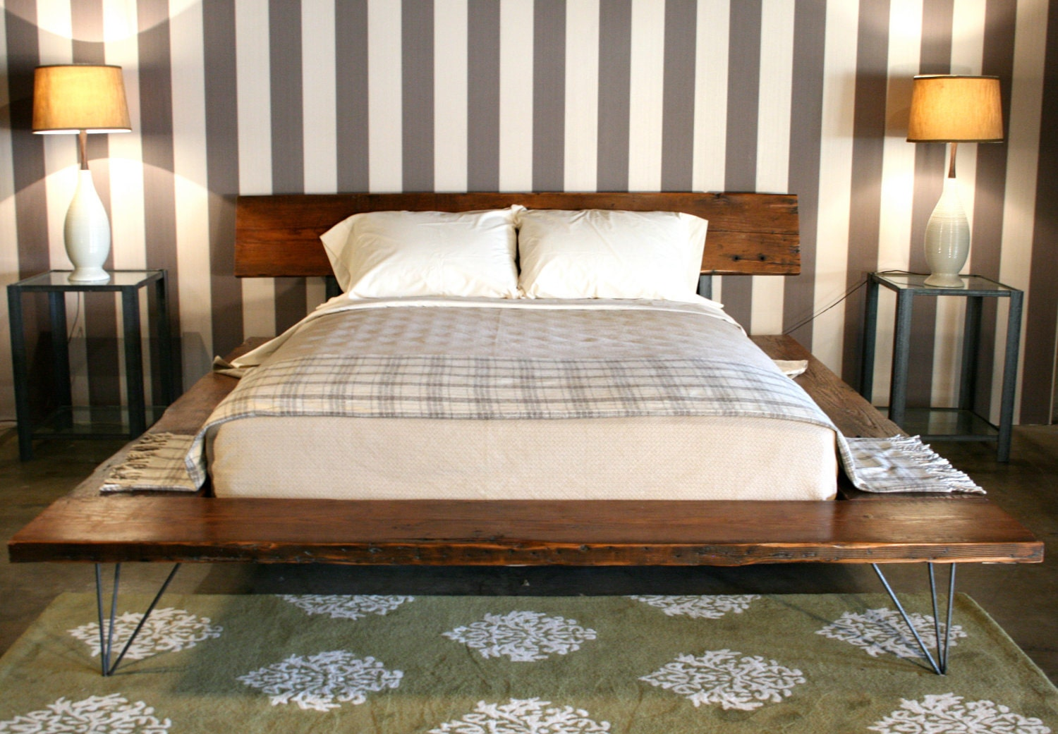 Reclaimed Wood Platform Bed - handmade sustainably in Los Angeles