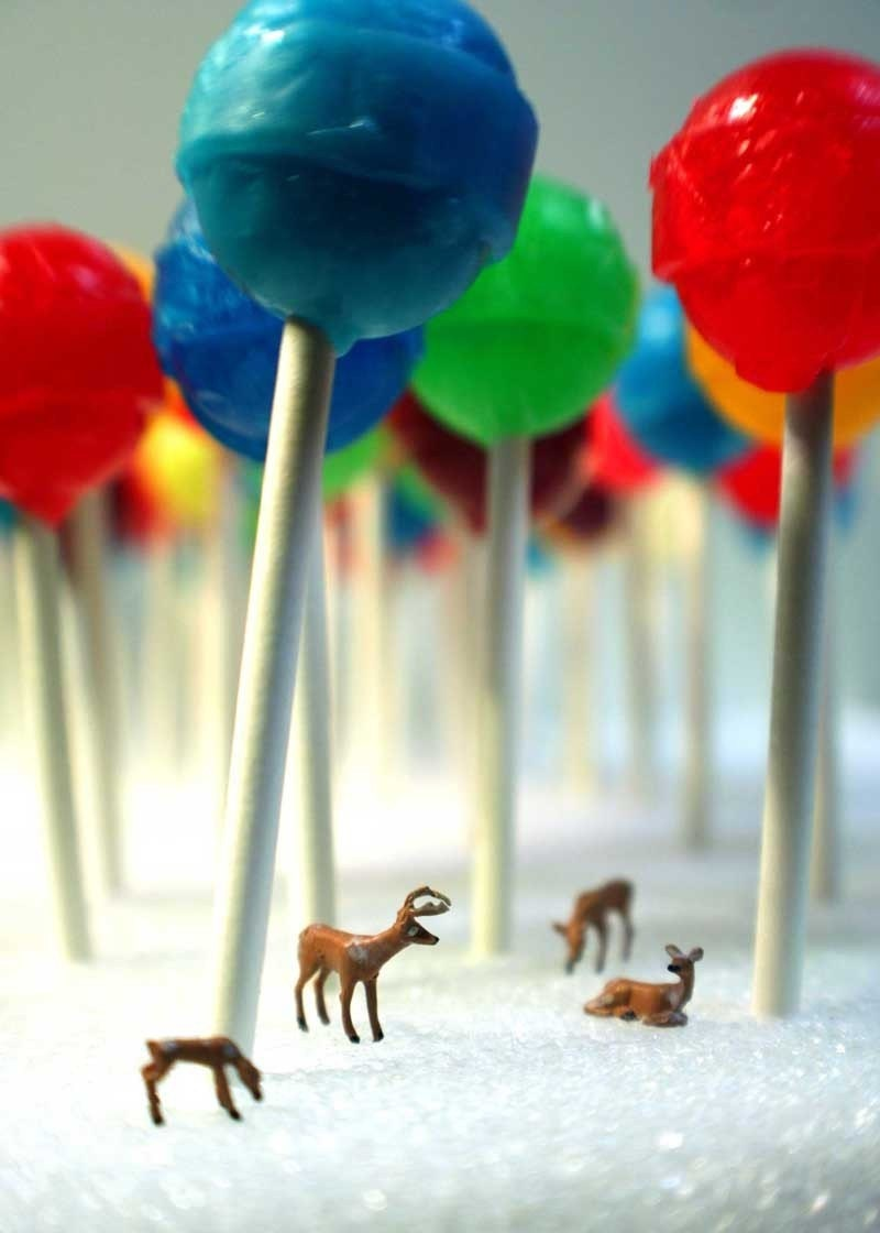 Lollipop Forest- 5x7 Metallic Print