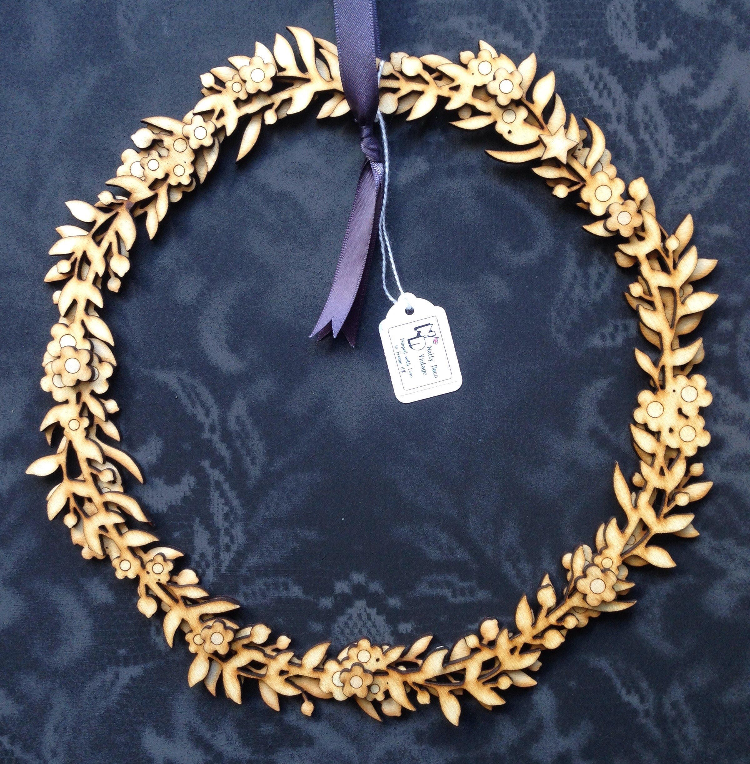 Pretty Laser Cut Floral Wreath