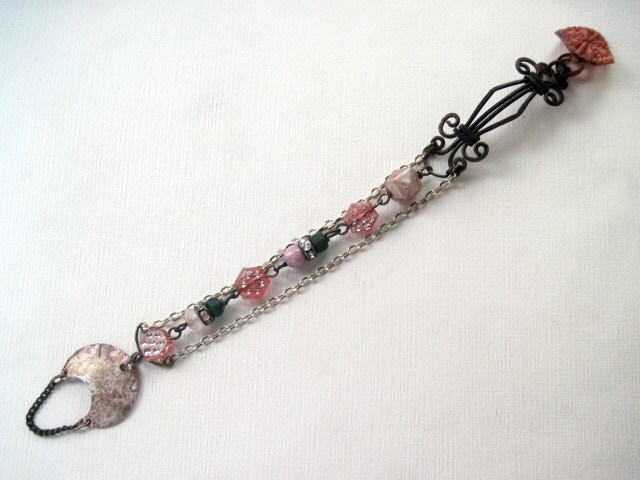 From Girl to Crone. Pink Trinket Bracelet.