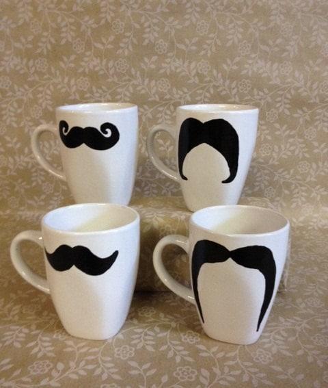 Mustaches Mug Mustache Mug Set of 4 Made