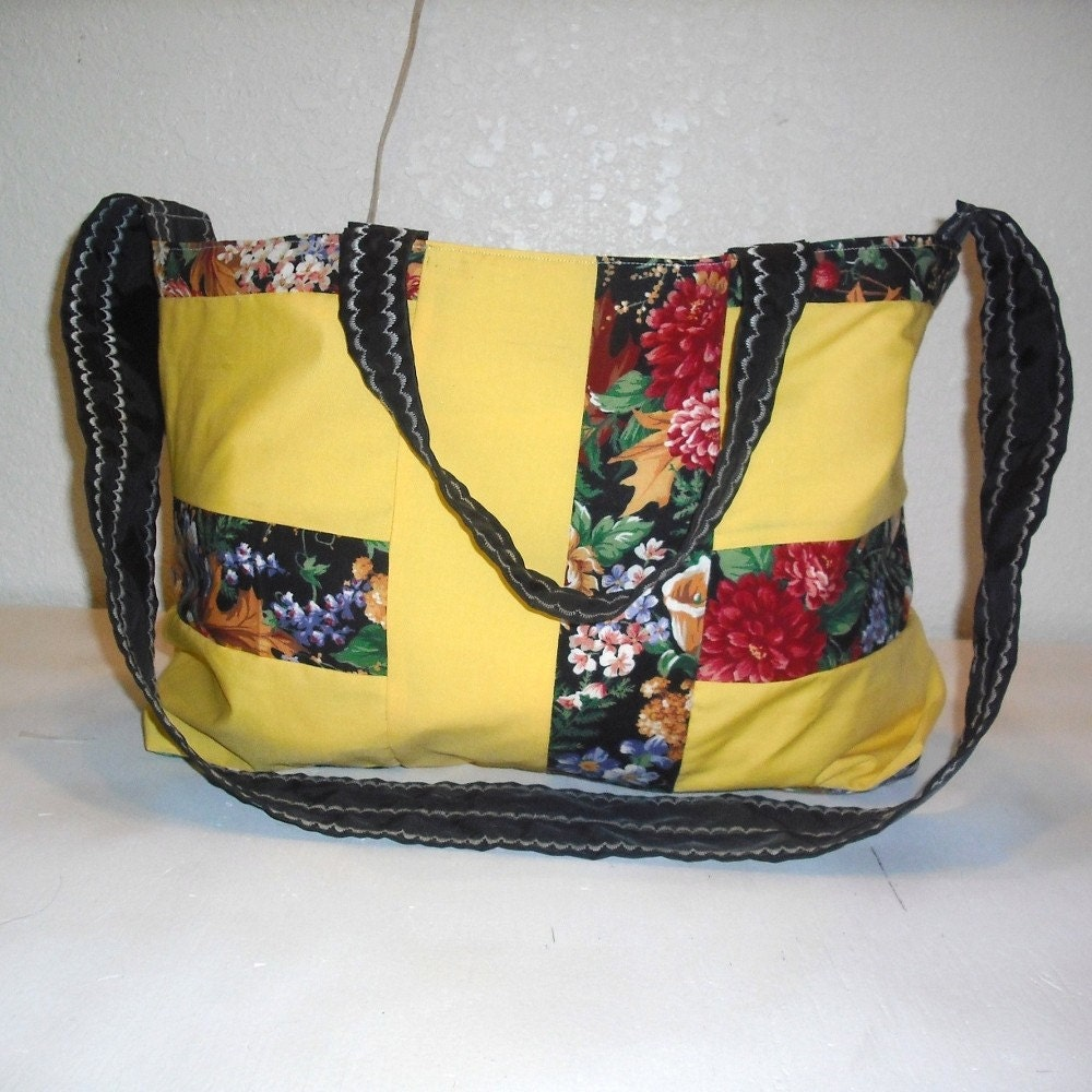 Handmade Bags and purses on Etsy - Goldenrod Vacation Bag by berrybluecreations from etsy.com