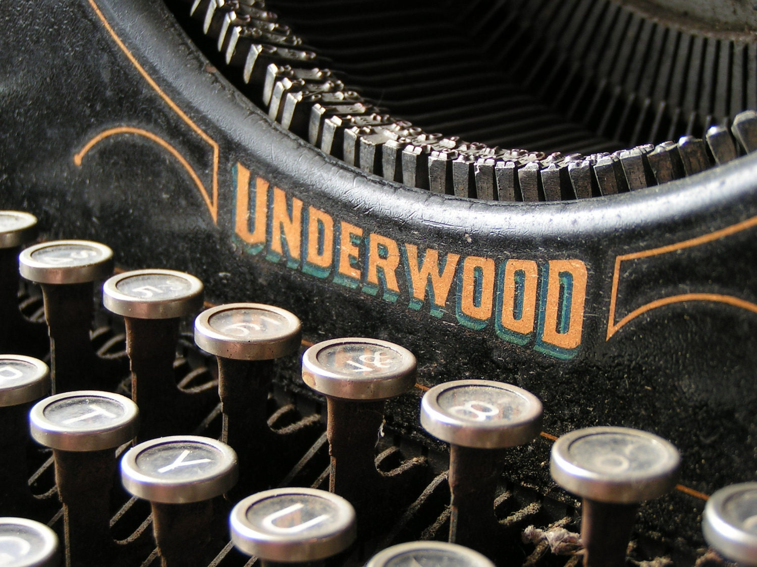 Vintage Underwood No. 5 Typewriter - CopperAndTin