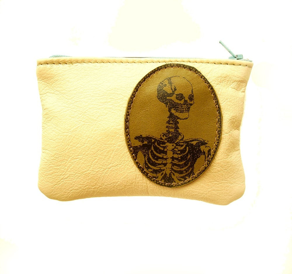 Skeleton  Changepurse made of Sample Leather