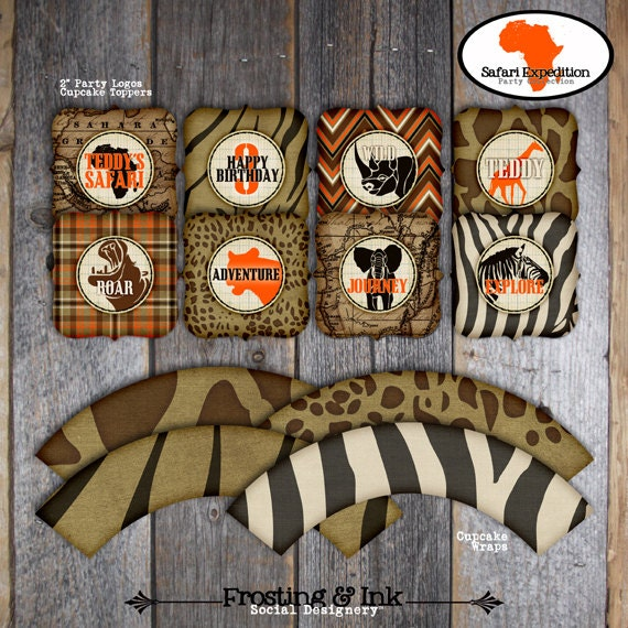 Safari party jungle safari birthday party by frostingandink for African party decoration