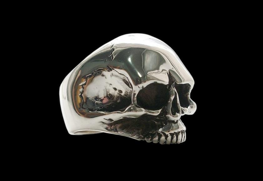 925 solid sterling silver keith richards skull ring by