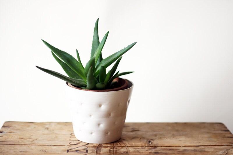 Handmade ceramic flower planter cover - OlisCupboard