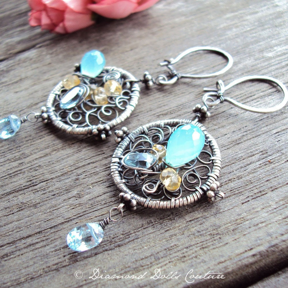 Papillon Bleu - Earrings