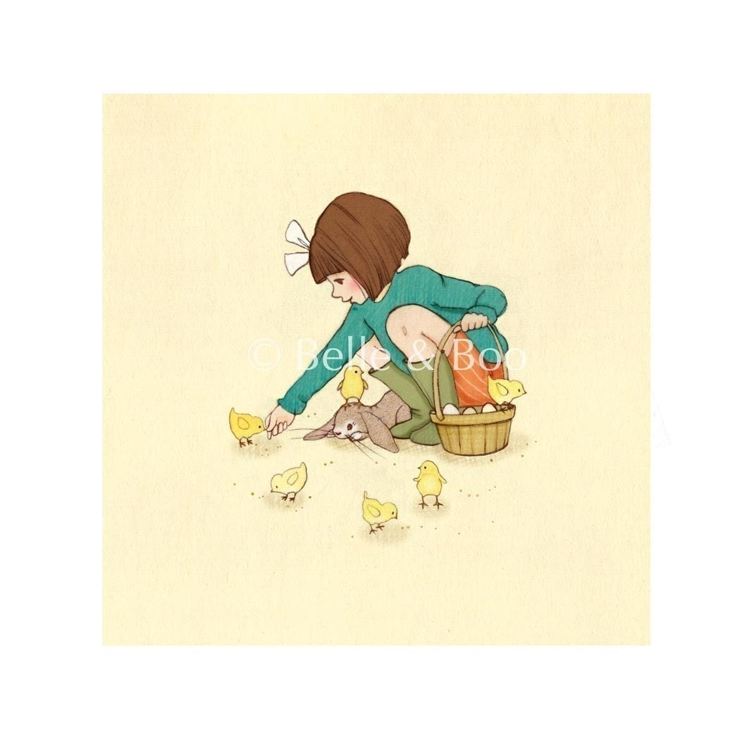 Belle Feeds the Chicks