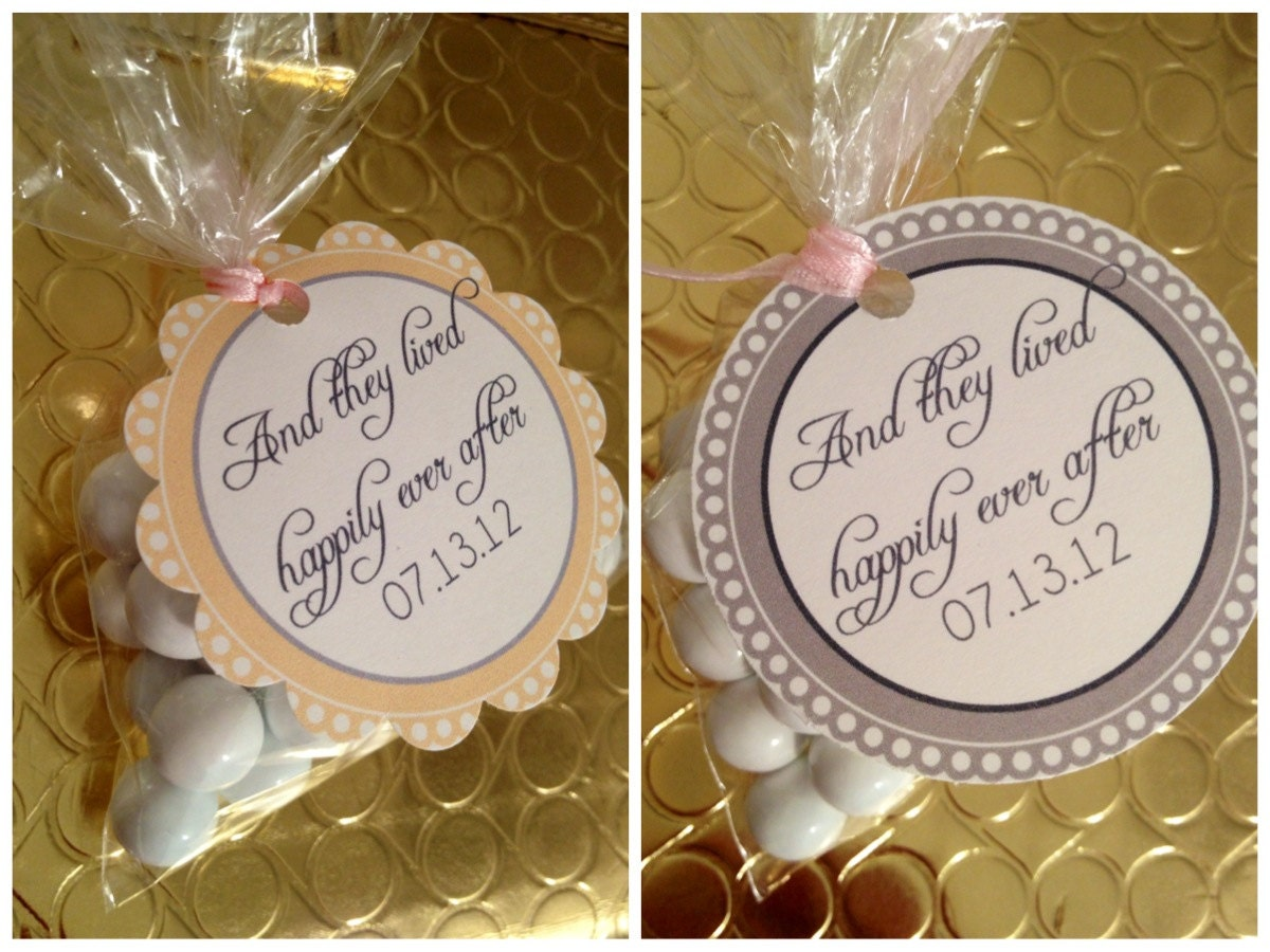Wedding Favor Tags Sayings : Wedding Tags, Happily Ever After Tags, Wedding Sayings, Wedding Favors ...