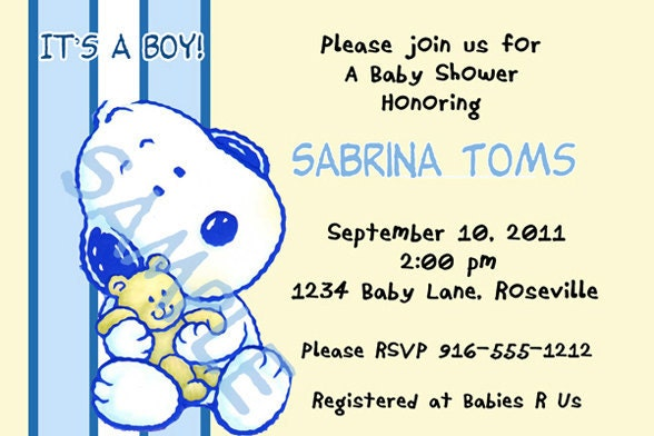 snoopy baby shower invitations printable pictures to pin on, Baby shower invitations