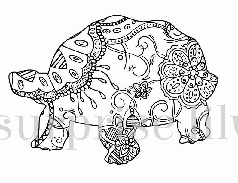 Henna Coloring Pages TurtleColoringPrintable Coloring Pages Free