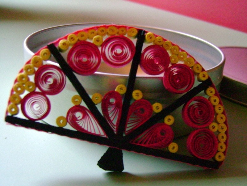 Quilled Japanese Fan