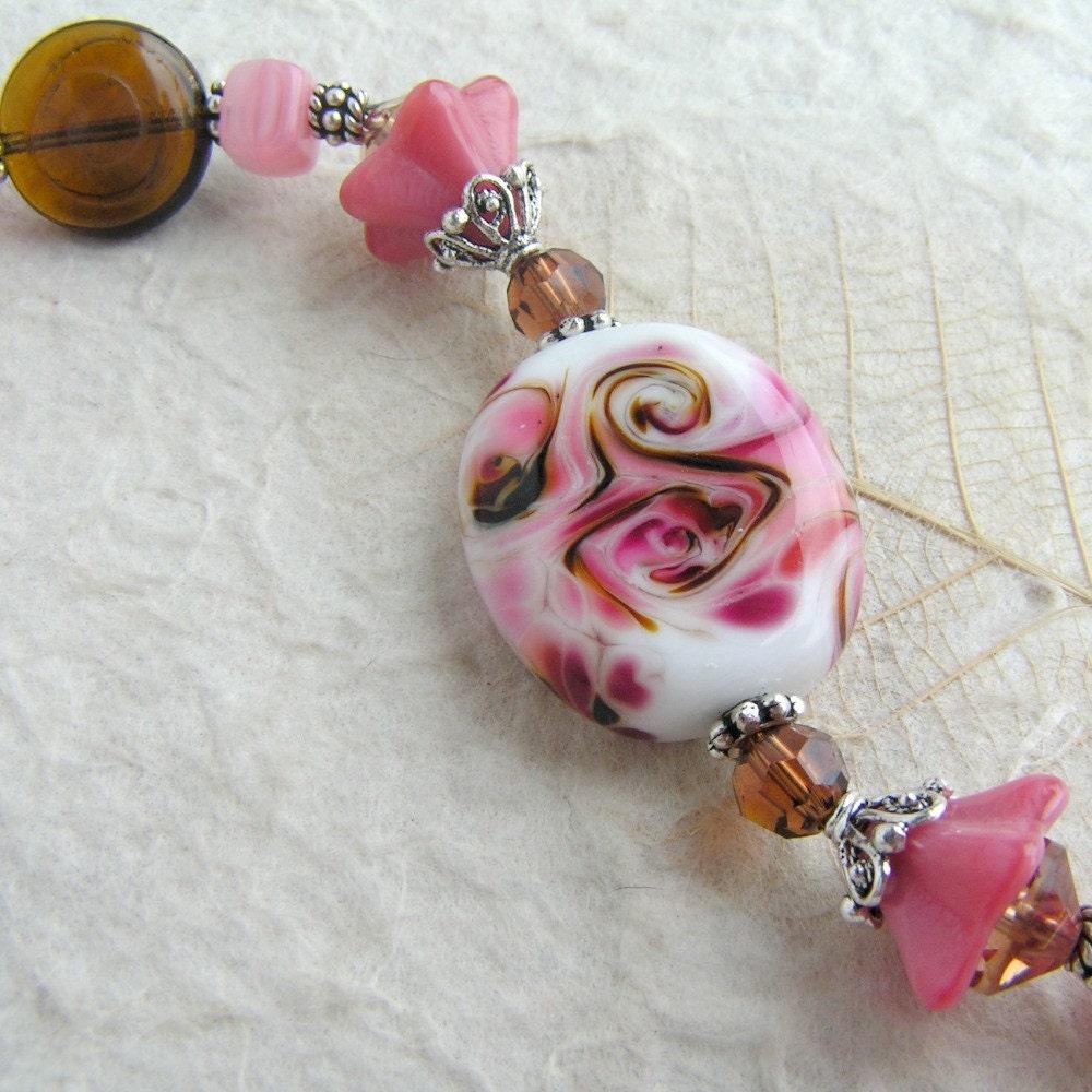 SWEET SURRENDER - Artisan Lampwork Glass Beaded Bracelet