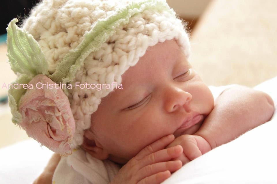 Crocheting A Baby Hat : Crochet Newborn Baby Hat Baby Girl Crochet Hat by BabiesByHand