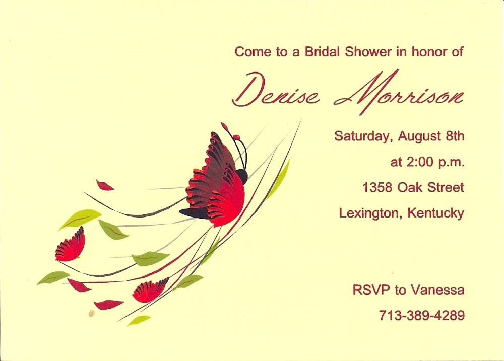 butterfly backgrounds for invitations. Butterfly Bridal Shower Invitations