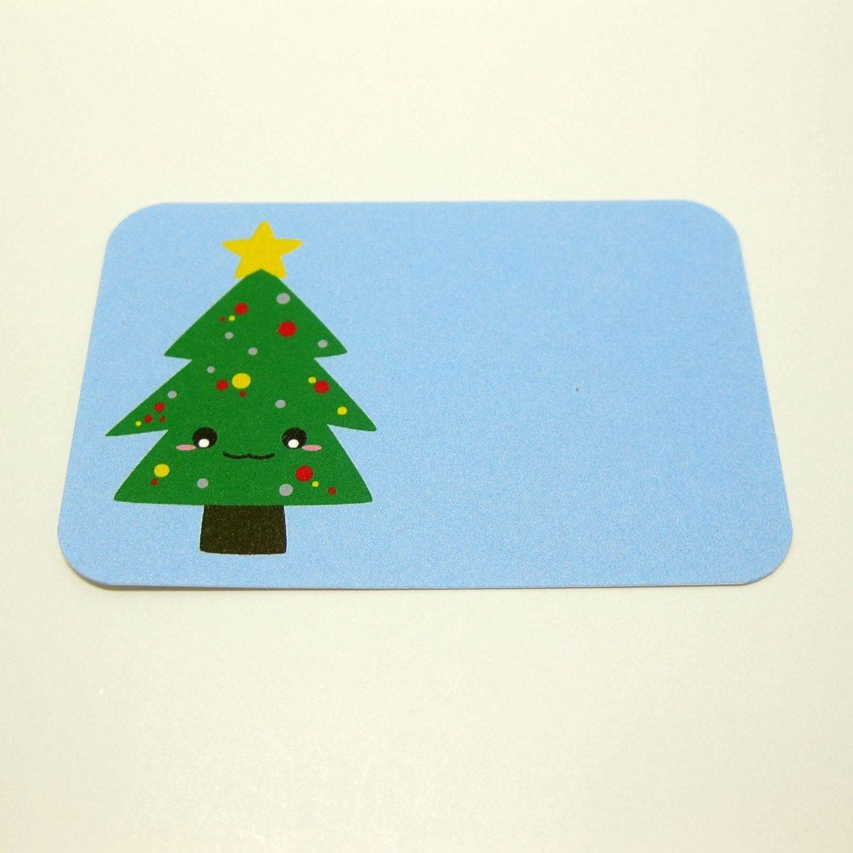 Christmas Tree Gift Tags - Set of 4