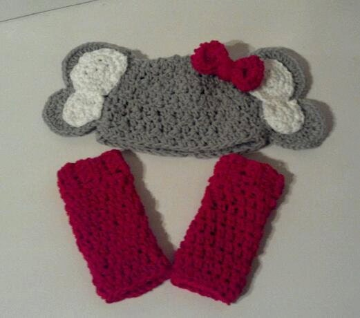 Crochet Elephant Hat and Legwarmers with Earflaps by ...