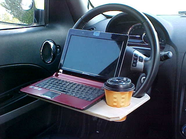 Want A Non Permanent Laptop Mount For Your Car