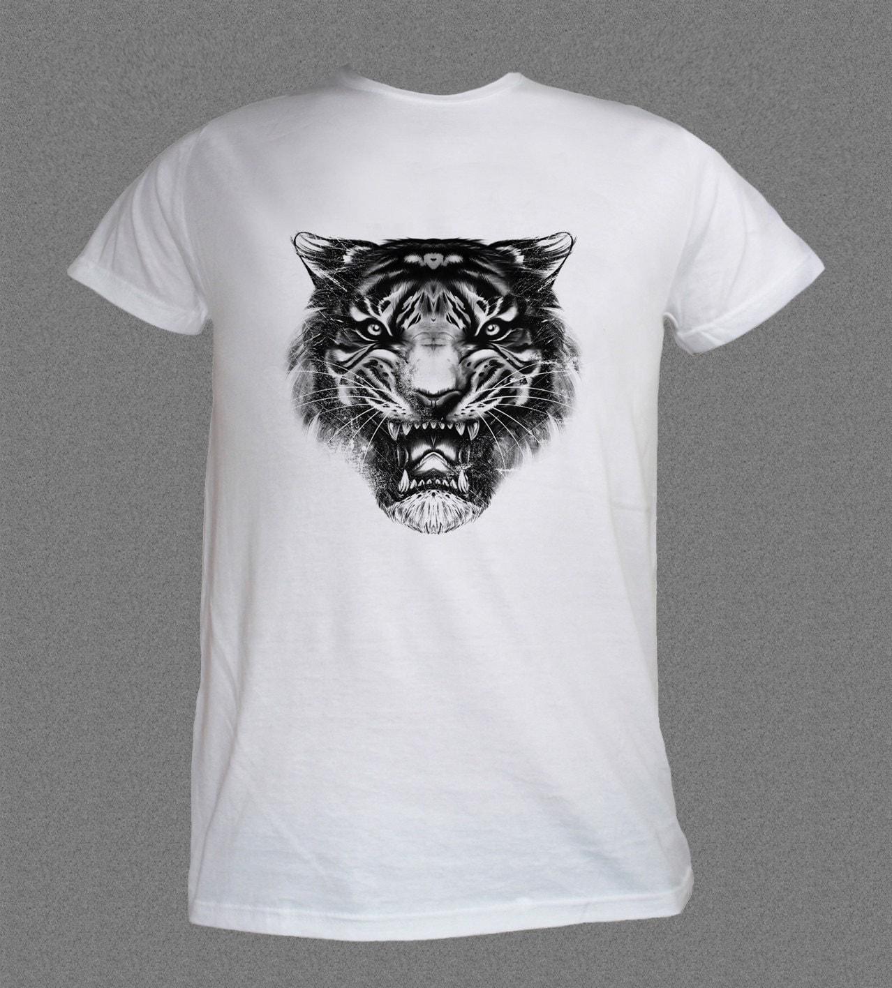 Angry Tiger Face Cat Nature Animal Tshirt