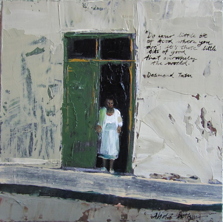 Do your little bit of good ART PRINT Gift for teachers Inspirational art Inspiring message Desmond Tutu quotation