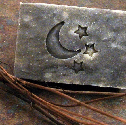 Celestial Moon and Stars  Resin Cast Stamp