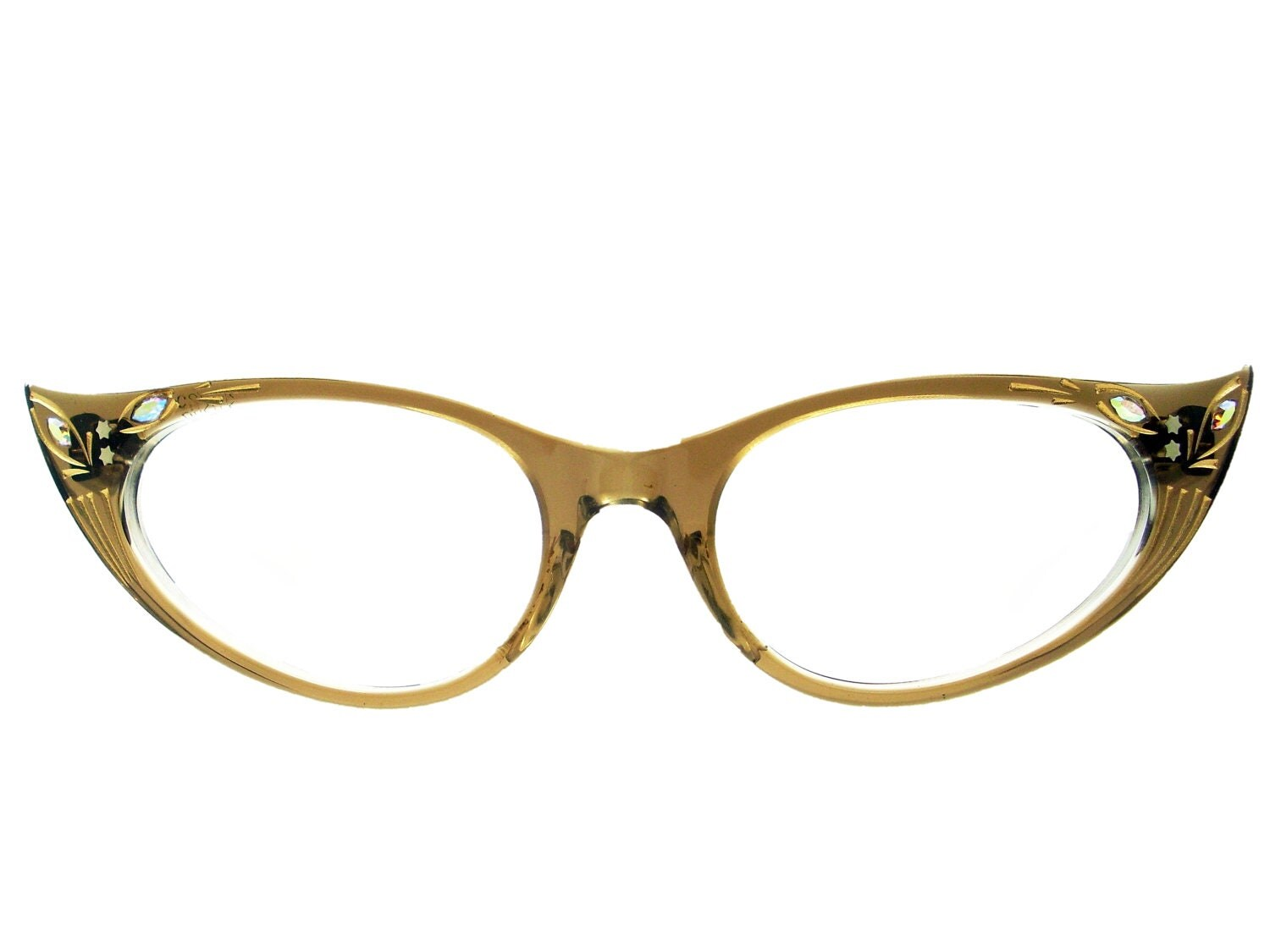 Vintage 50s Frame France Cat Eye Glasses Eyeglasses Sunglasses Glasses New