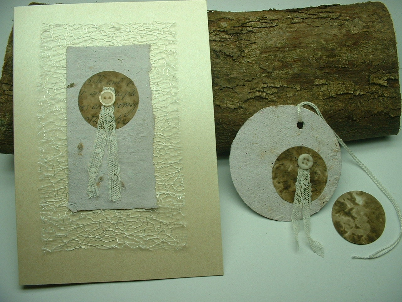 Lavender and Old Lace. Greetings Card and Gift Tags. - ShoestringCottage