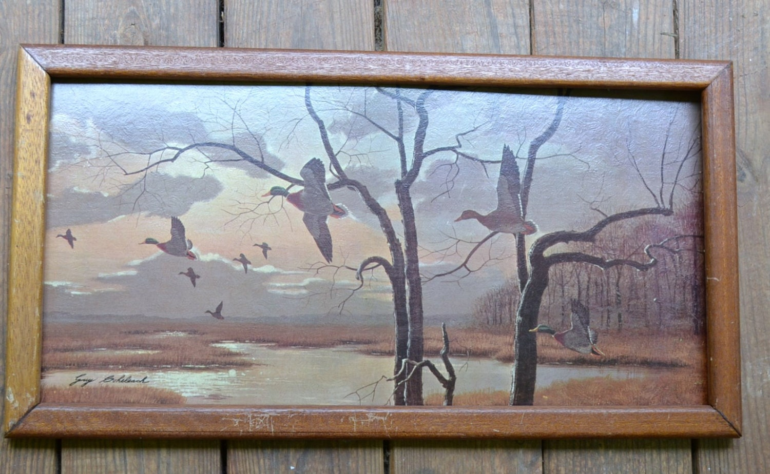 Vintage Framed Print by Guy Coheleach Heading South PanchosPorch - PanchosPorch