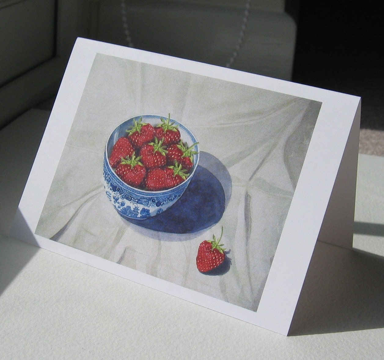 Greeting card - Bowl of Strawberries