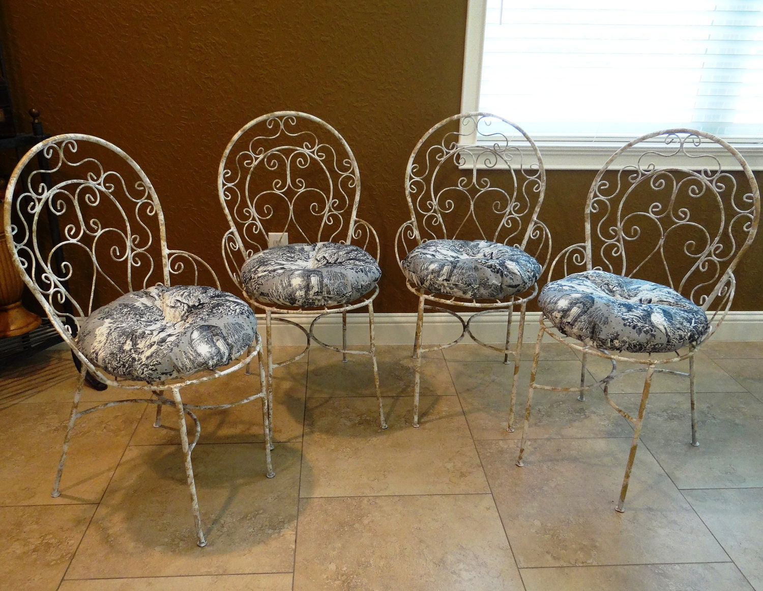 Refurbished Vintage Metal French Country Bistro By Didizines