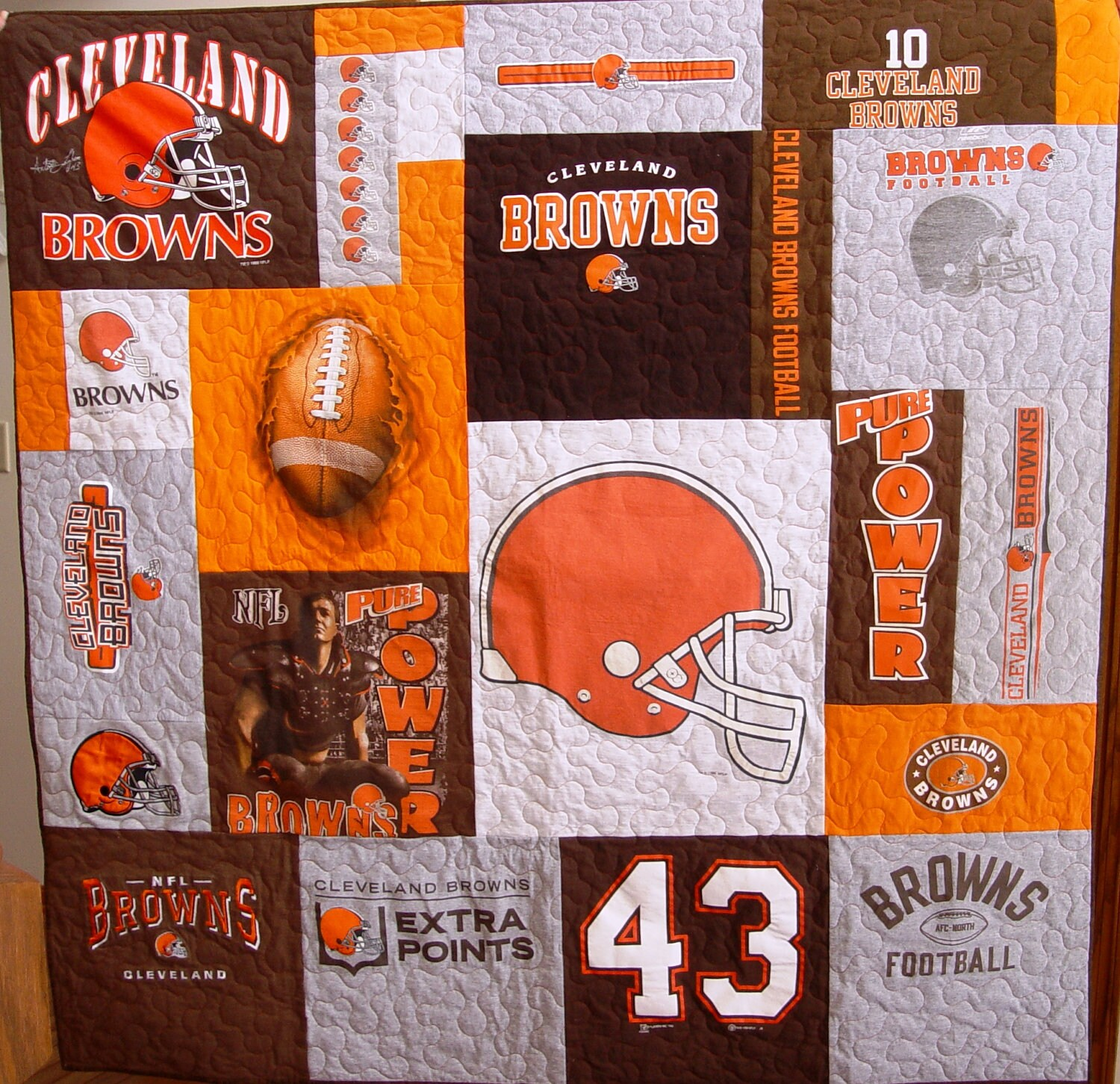 Cleveland Browns Baby Items Cleveland Browns Baby Quilt
